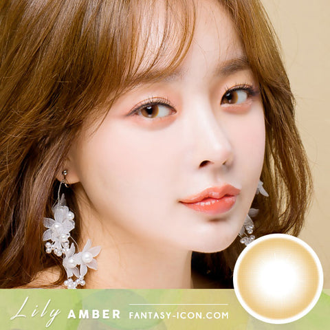 Lily Amber Brown Colored Contacts