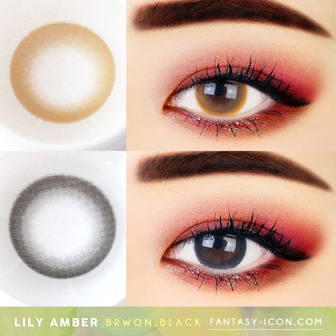 Lily Amber Colored Contacts