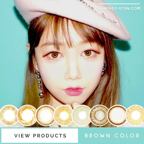 CHOCOLATE BROWN COLORED CONTACT LENSES - CIRCLE LENSES