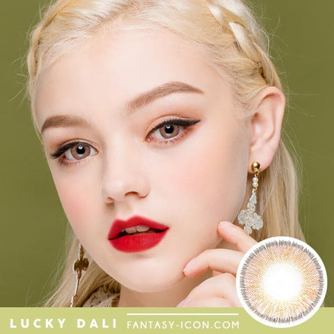 Lucky Dali Brown Colored Contacts for Hperopyia - model