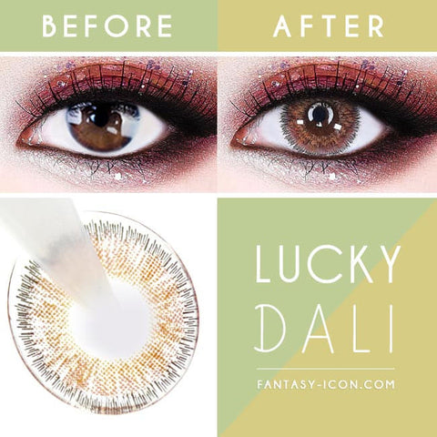 Lucky Dali Brown Colored Contacts for Hperopyia - detail