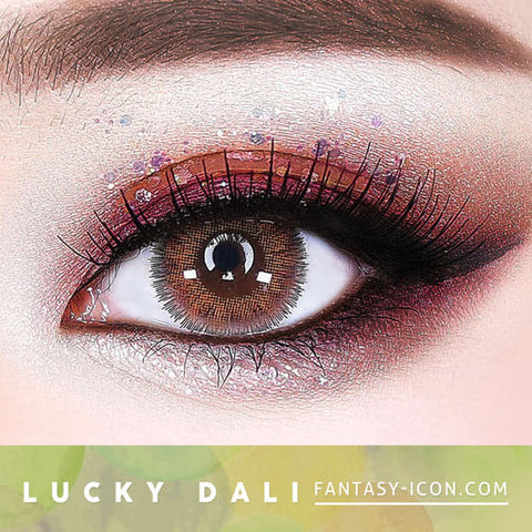 Lucky Dali Brown Colored Contacts for Hperopyia - eyes