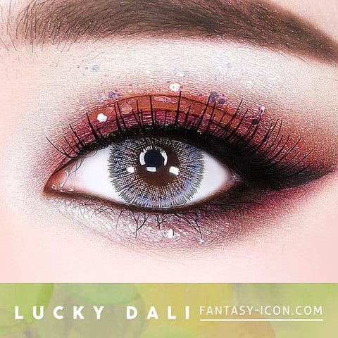 Lucky Dali Grey Colored Contacts for Hperopyia - eyes