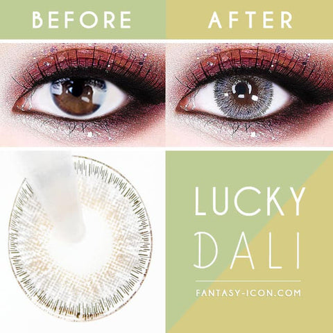 Lucky Dali Grey Toric Lens - Gray Colored Contacts for Astigmatism eyes detail