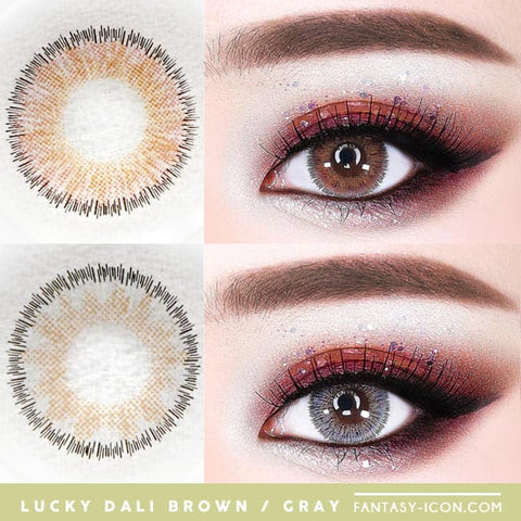 Lucky Dali Toric Lens Colored Contacts for Astigmatism - Gray and Brown