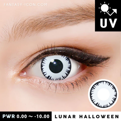 Lunar White Contacts Halloween Lenses