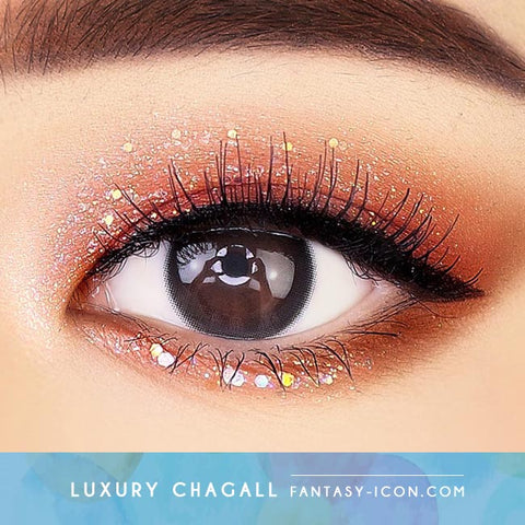 Luxury Chagall Black Colored Contacts For Astigmatism - Toric Lens eyes