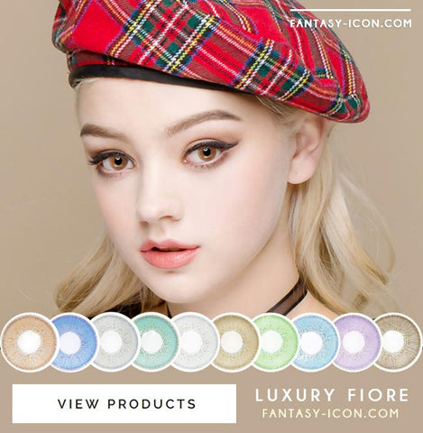 Luxury Fiore Brown Colored Contact Lenses 7