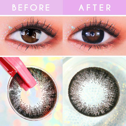 Toric Lens Luz Dali Black   Colored Contacts For Astigmatism detail