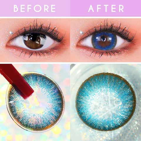 Toric Lens Luz Dali Blue | Colored Contacts For Astigmatism detail