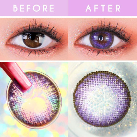 Toric Lens Luz Dali Violet   Colored Contacts For Astigmatism detail