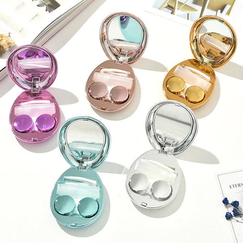 Mirror-Colorful-Contact-Lens-Blue-Water-drop-Contact-Lens-Box 1