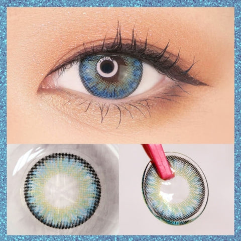 Toric Lens Blue Contacts For Astigmatism Moist Barbie 3 tone