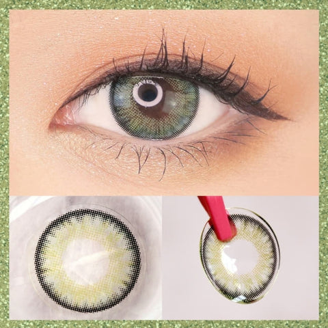 Toric Lens Green Colored Contacts For Astigmatism Moist Barbie