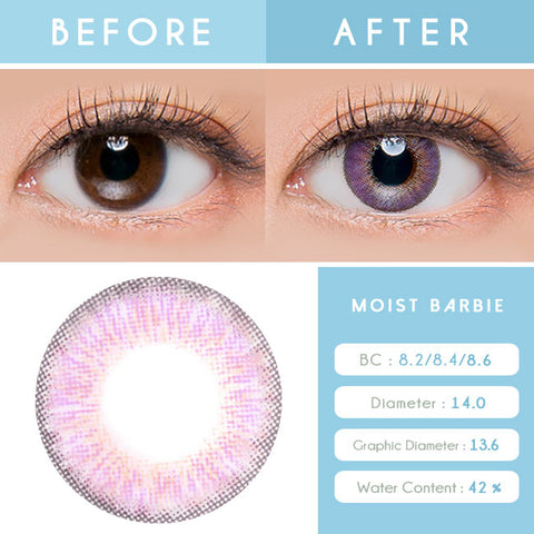 Colored Contacts For Astigmatism Moist Barbie 3 tone Violet Toric Lens