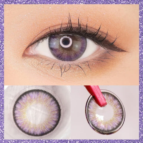 Toric Lens Violet Colored Contacts For Astigmatism Moist Barbie