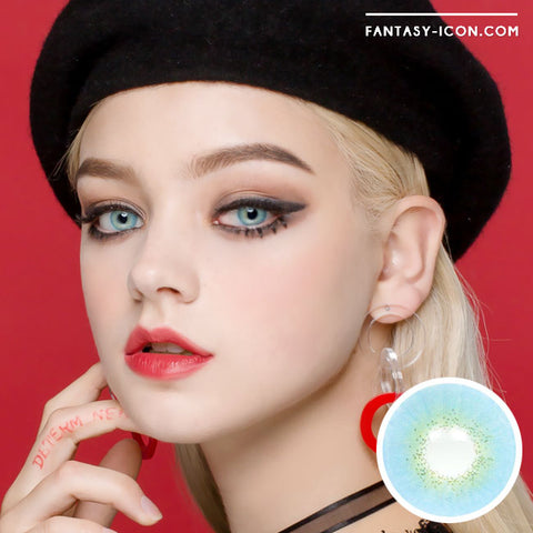 Muse Blue Colored Contacts model 2