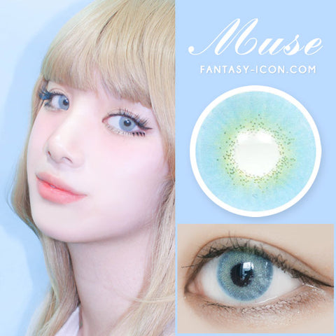 Muse Blue Colored Contacts eye model