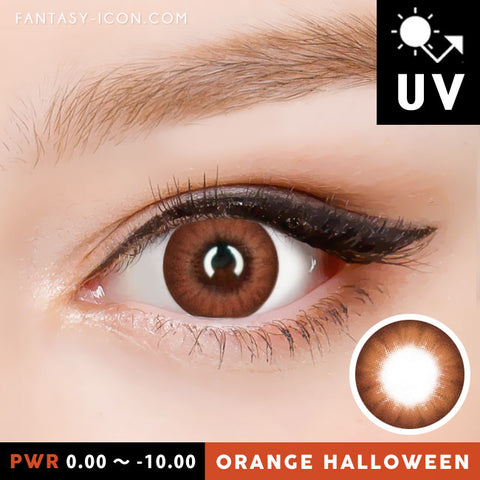 Natural Orange Brown Contacts