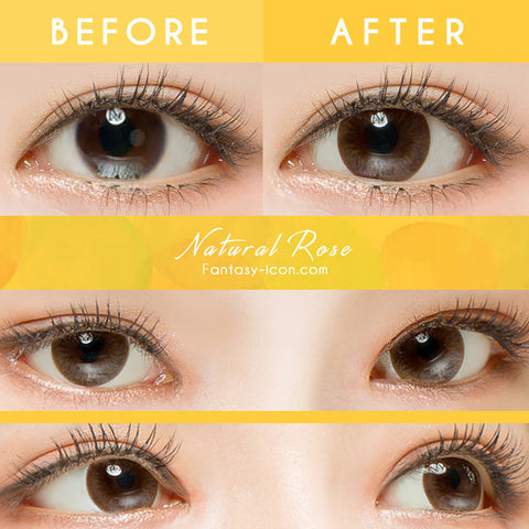 Natural Rose Brown Toric Contacts for Astigmatism Detail