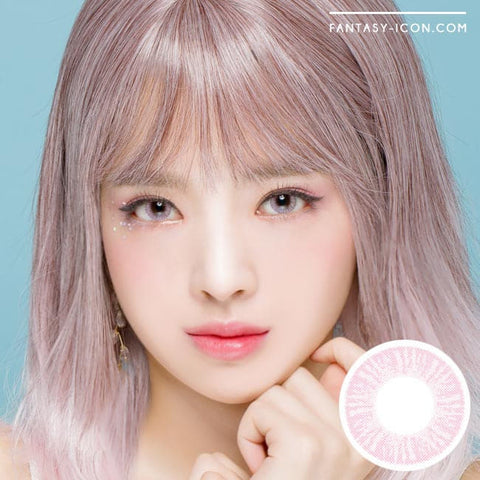 Ruby Artric Pink Colored Contacts Model