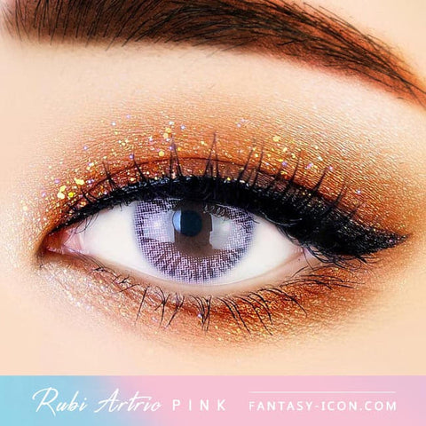 Ruby Artric Pink Colored Contacts - Eyes