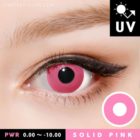 Innovision Solid Pink Contacts Prescription UV Blocking Halloween Cosplay
