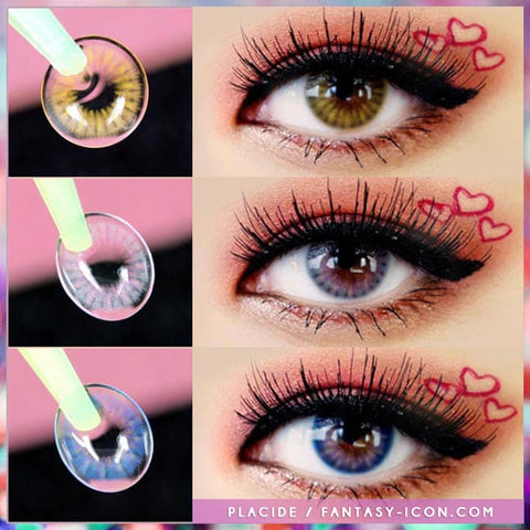 Colored Contacts Placide Grey - Circle Lenses 7
