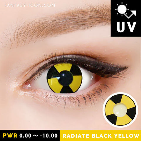 Radiate Black Yellow Contacts