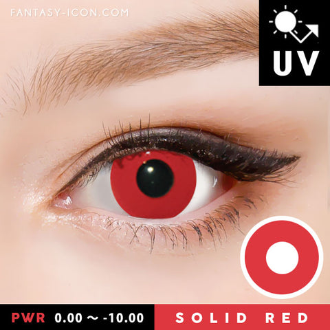 Innovision Solid Red Contacts Prescription UV Blocking Halloween Cosplay