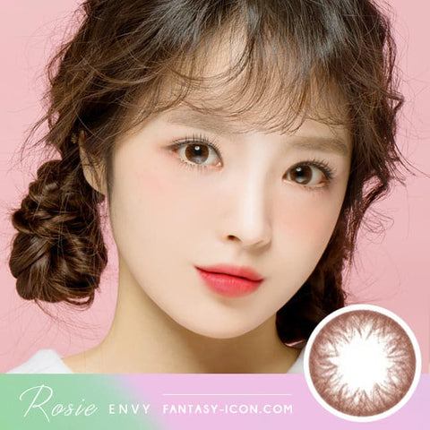 Rosie Envy Chocolate Brown Colored Contacts Model