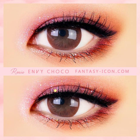 Chocolate Brown Colored Contacts - Rosie Envy - Eyes