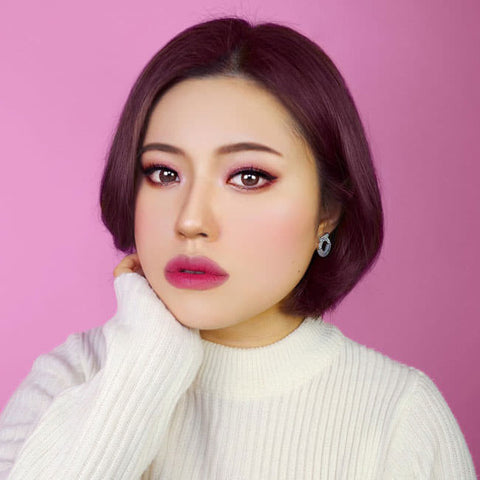 Chocolate Brown Colored Contacts - Rosie Envy - Review