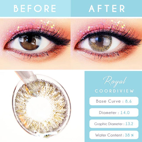 Royal Coordiview Brown Contacts - Detail