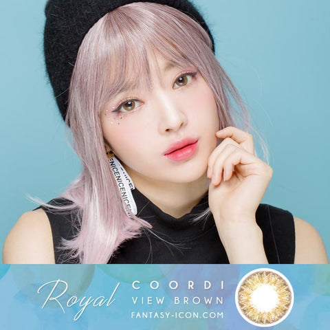 Royal Coordiview Brown Contacts Model 2