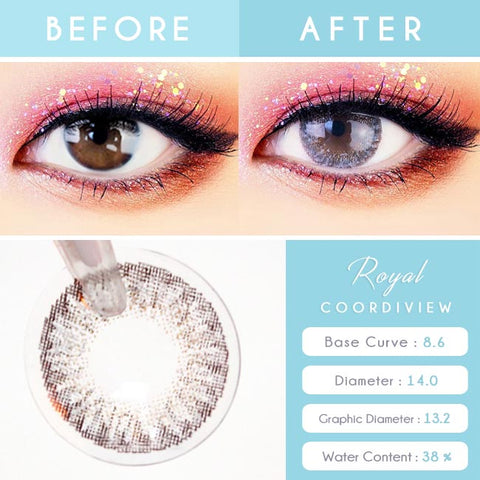 Royal Coordiview Grey Contacts - Detail