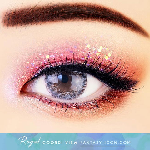Royal Coordiview Grey Contacts - Eyes Detail2