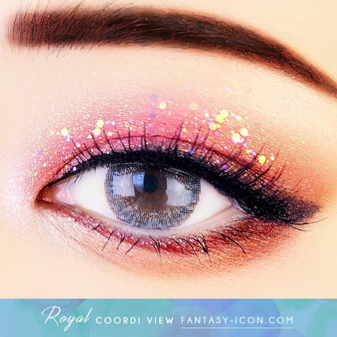 Royal Coordiview Grey Contacts - Eyes
