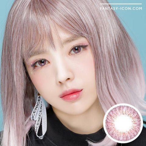 Royal Coordiview Pink Contacts Model