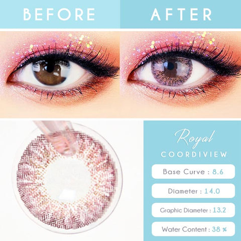 Royal Coordiview Pink Contacts - Detail