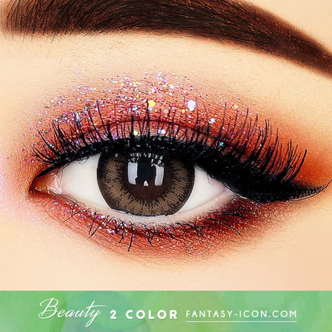 Beauty 2 Color Brown Colored Contacts For Astigmatism - Toric Lens eyes