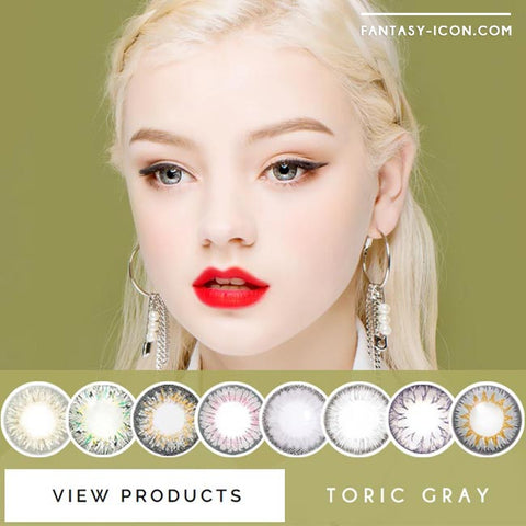 Grey Toric Colored Contacts for Astigmatism - Cielo soony 5