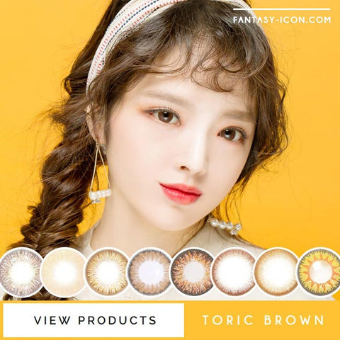 Toric Colored Contacts for Astigmatism - Milky Dali Brown Black 4