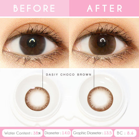 Daisy Chocolate Brown Toric Lens Colored Contacts For Astigmatism eyes