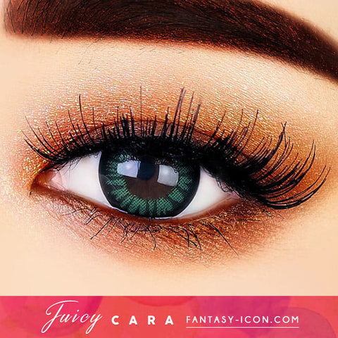 Juicy Cara Green Toric Lens | Colored Contacts For Astigmatism eyes detail