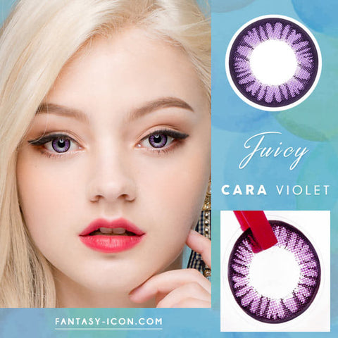 Juicy Cara Violet Toric Lens Colored Contacts For Astigmatism model eyes