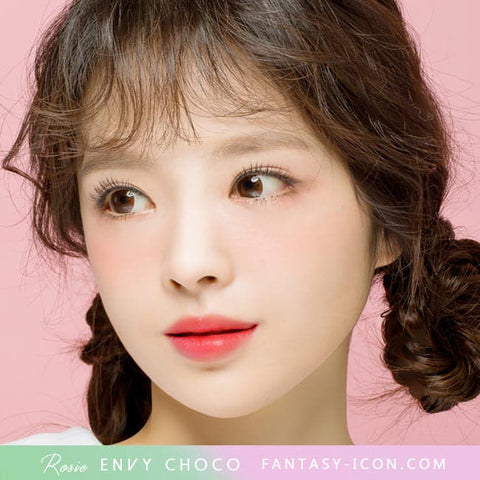 Rosie Envy Chocolate Brown Colored Contacts for Astigmatism - Model2