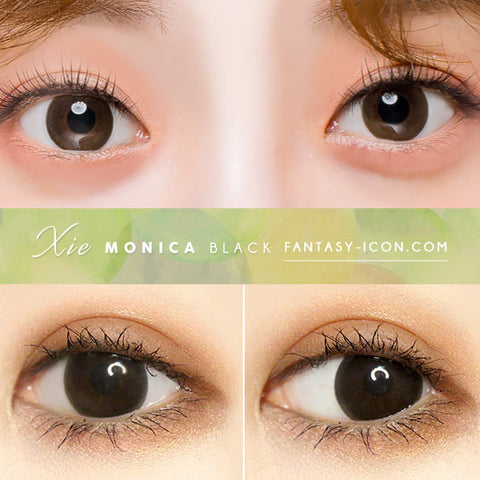 Monica xie Black Toric Lens eyes