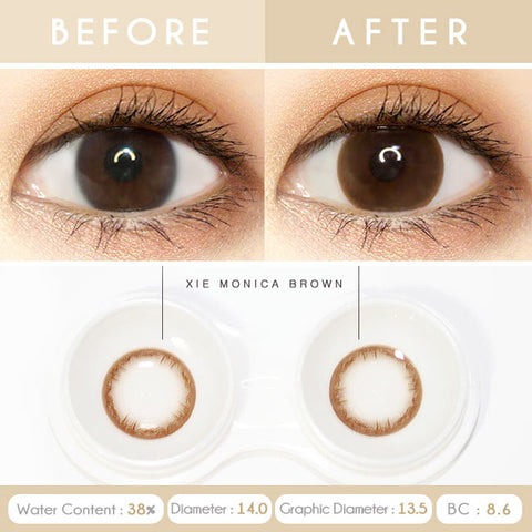 Monica xie Brown Toric Lens Colored Contacts For Astigmatism eyes