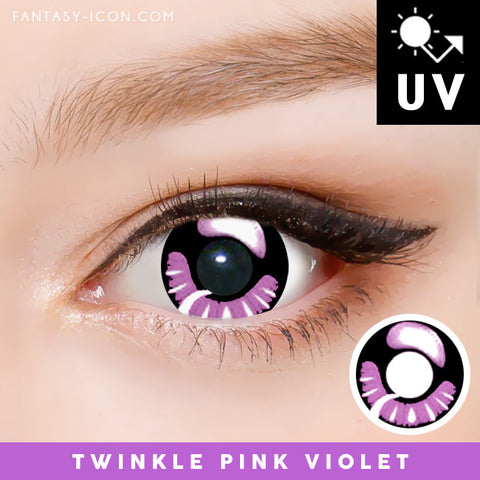 Pink Violet Halloween Contacts Anime Cosplay Manga Lens Purple